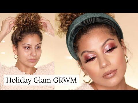 Holiday Glam GRWM! Curly Hair & Makeup Tutorial thumbnail