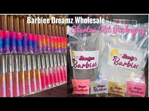 BARBIEE DREAMZ WHOLESALE | LIPGLOSS STARTER KIT PACKAGING | HOW TO MAKE LIPGLOSS