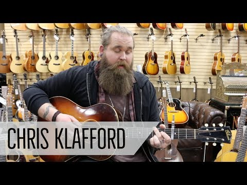 Swedish Idol Winner - Chris Klafford Playing A 1947 Gibson LG-2 Script Logo