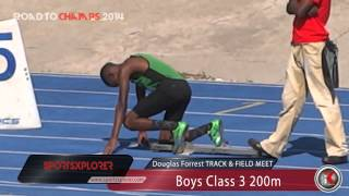 Christopher Taylor wins his HEAT of Boys Class 3 200m - 2014 Douglas Forrest - ROAD TO CHAMPS 2014