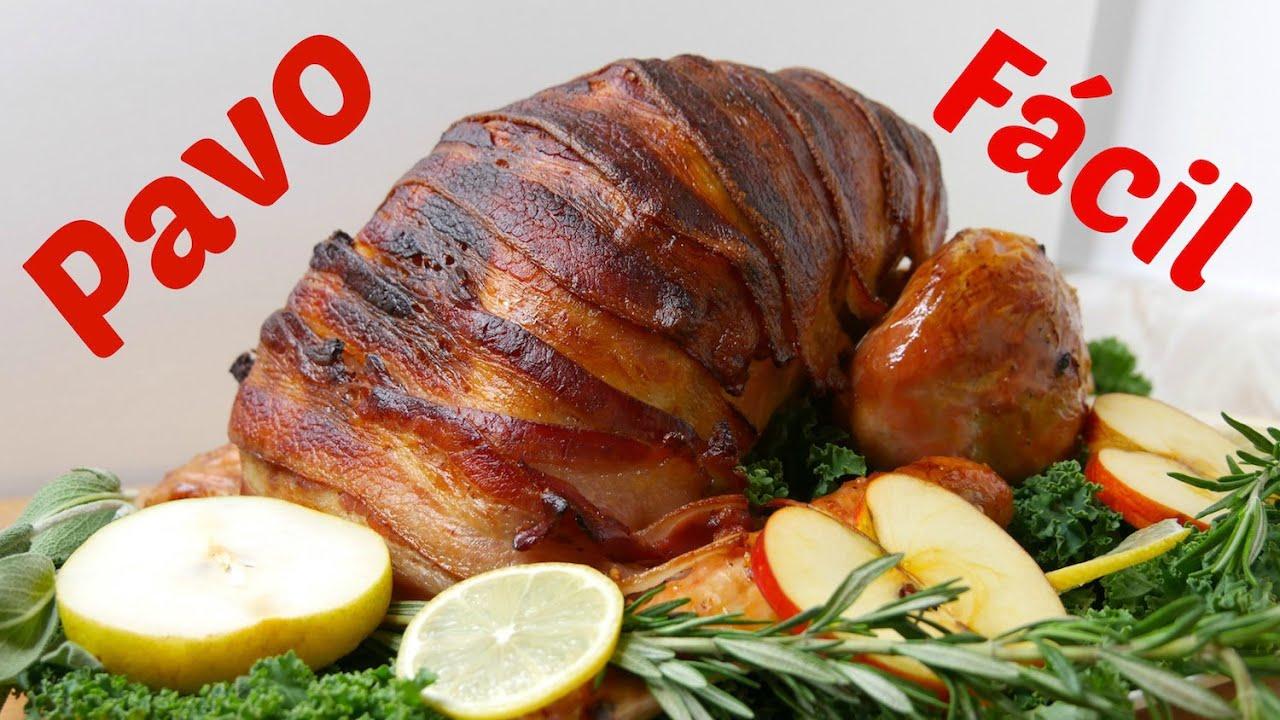 C mo hacer un pavo f cil y delicioso receta con tocino for Como armar mi cocina