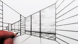 See How to Draw a Room with a View: Narrated step by step: SUBSCRIB...