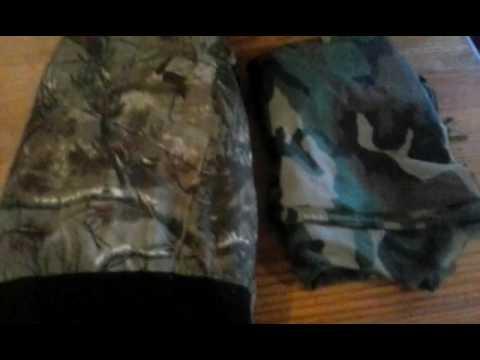 Military camo vs. Hunting camo