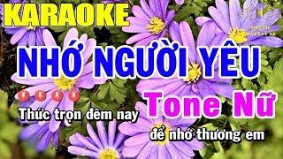 Karaoke Nhớ Người Yêu Tone Nữ Nhạc Sống Đàn Ea7   Trọng Hiếu