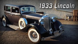 1933 Lincoln Sedan in for work at Brauns Motorsports
