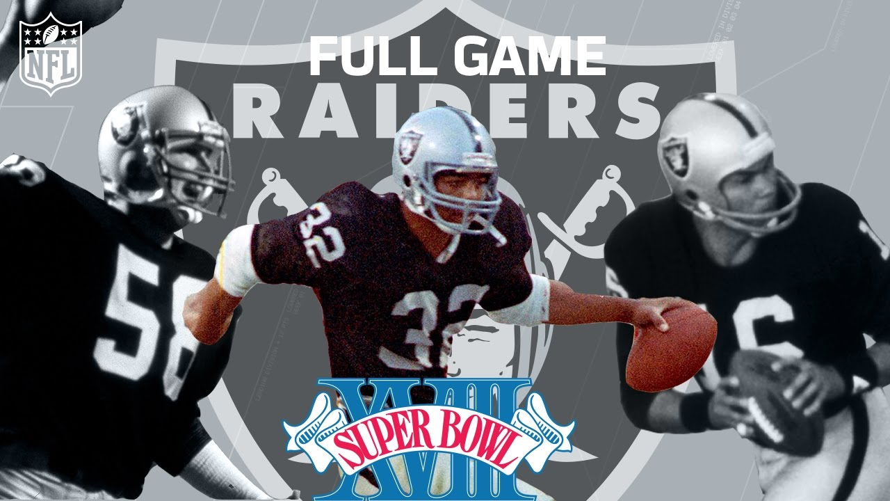 best service 71832 3ae76 Super Bowl XVIII: Marcus Allen Runs All Over Washington | Redskins vs.  Raiders | NFL Full Game