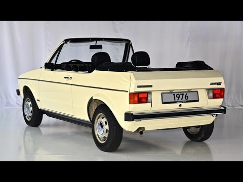 vw golf 1 cabriolet convertible prototype model 1976 youtube. Black Bedroom Furniture Sets. Home Design Ideas