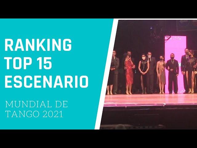 MUNDIAL DE TANGO 2021 TOP 15 puntaje ranking ESCENARIO