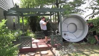 Hawkeye Round Hot Tub Spa Move Under Gazebo The Spa Guy Nashville