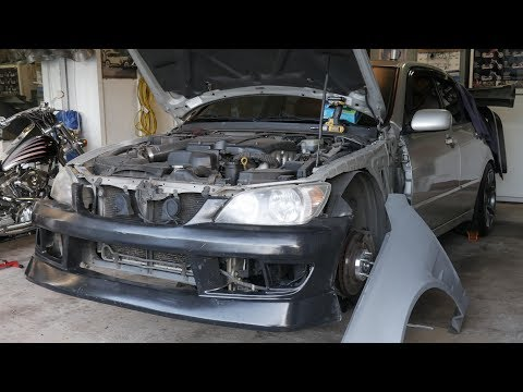 Fiberglass and Metal Repair on the IS300 (CAR CATCHES ON FIRE!!)