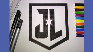 How to Draw Justice League Logo