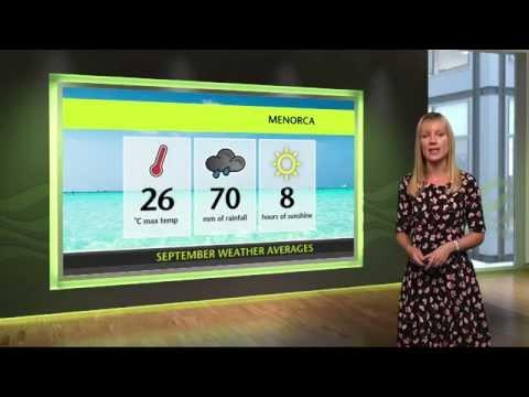 September Holiday Weather - Fuerteventura, Tenerife, Menorca