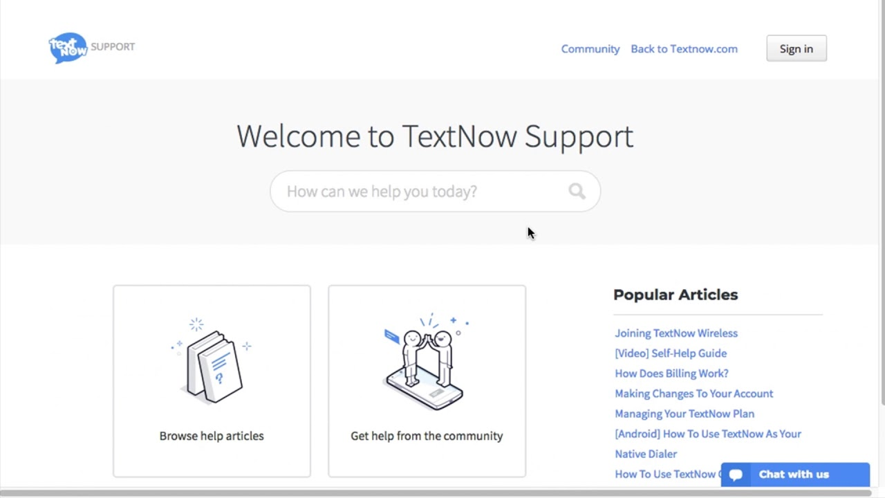 TextNow Online Support