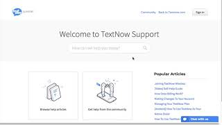 TextNow Online Support