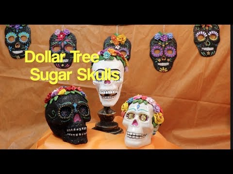 Dollar Tree Catrina , Sugar Skull Home Decor  ,Dia De Los Muertos , DIY