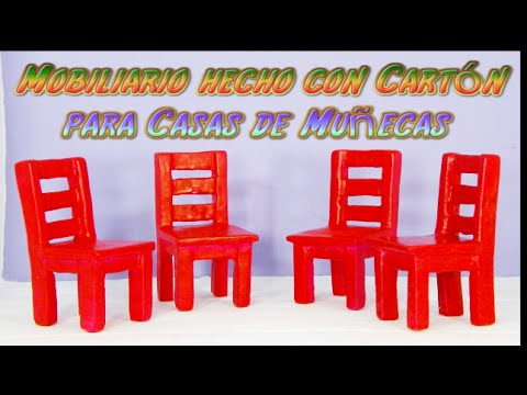 Como hacer muebles para casa de mu ecas con cart n sillas for Casa con muebles transformables
