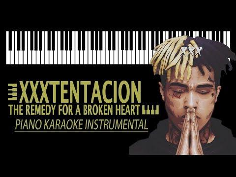 XXXTENTACION - The remedy for a broken heart KARAOKE (Piano Instrumental)