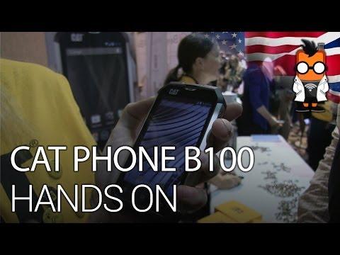 CAT B100 Smart Phone - Hands on - CES 2014