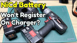 HOW TO REVIVE A NiCd DRILL BATTERY THAT WON'T CHARGE