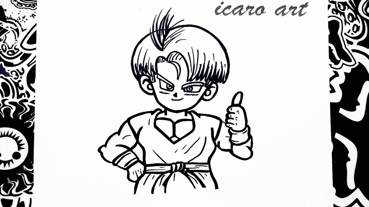 Como Dibujar A Trunks How To Draw Trunks