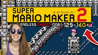 TOO CLOSE! ENDLESS EXPERT 008 | 129-140+// SUPER MARIO MAKER 2