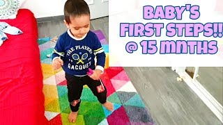 BABY'S FIRST STEPS!! INDIAN NRI GUJARATI VLOGGER!