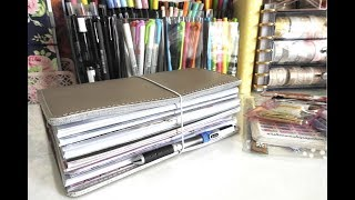 Travelers Notebook Flip Through // Planner Flip Through // Beginner Travelers Notebook Setup