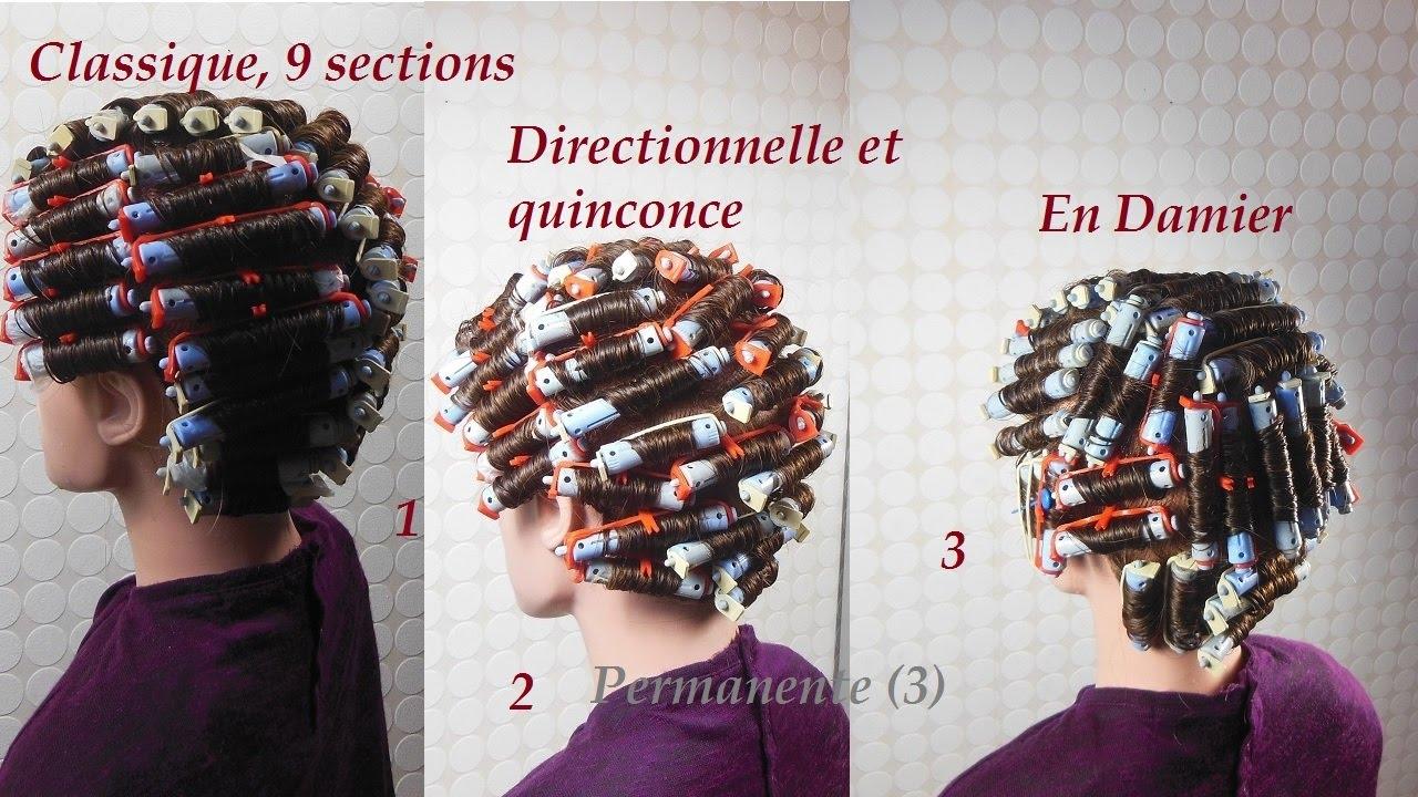 Permanente Enroulage 3 Options Permanent Hair Perm Hairstyle Perm Waves Permanente De Pelo Youtube