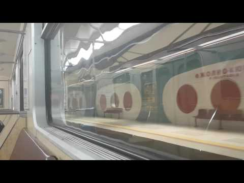 Sofia metro line1 and 2 From Vitosha to G.M. Dimitrov | Метро София  Метровагонмаш 81-717 | Part 3