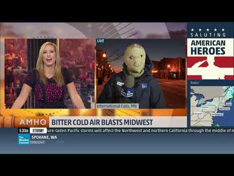 Mike Seidel The Weather Channel International Falls, MN Frigid 11-10-2017