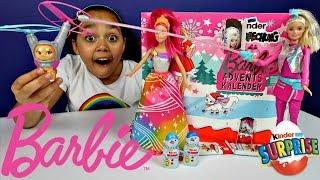 Barbie Christmas Advent Calendar - Barbie Toys  - Kinder Surprise Eggs - Toys For Kids   Toys AndMe