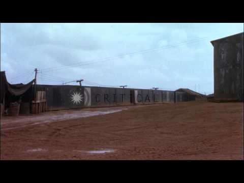 Hospital building and dry stores warehouse built by MCB-10 at Camp Shields in Chu...HD Stock Footage