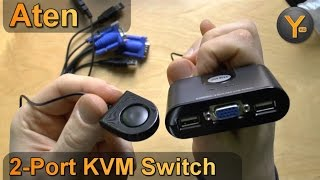 Review: Aten CS22U / 2-Port KVM Switch / VGA + USB Umschalter für 2 Computer