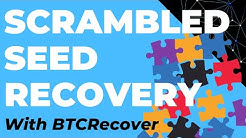 Recover Scrambled 12 Word Seeds with BTCRecover (Electrum & BIP39 Seed Phrases Ledger Trezor Keepkey