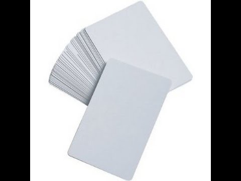 How to make a blank card.