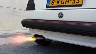 Volkswagen Golf 2 MK2 1.8 8v GTI 1984 backfire