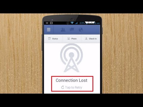 How to Fix Connection Lost Error of Facebook App in Android