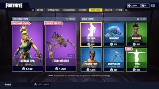 Fortnite New Item shop update/T pose emote and scarecrow skins