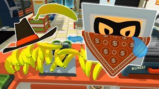 BRAVE STORE CLERK ROBS ROBBER OF ALL HIS THINGS! - Job Simulator VR Gameplay - Oculus VR Game
