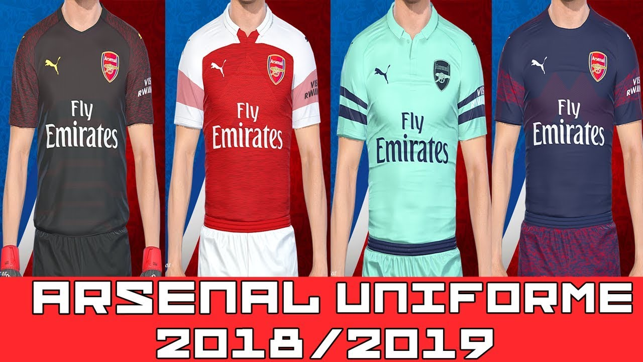new styles 894f9 c51a7 PES 2018 - UNIFORME ARSENAL TEMP 2018/2019 - By : Lucas RK