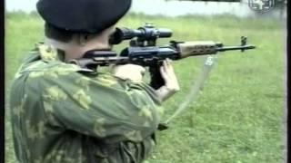 Изготовка для стрельбы стоя с СВД