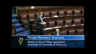 Deputy Michael McNamara speaking during Private Members Business on the Good Friday Agreement