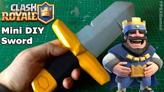 Mini DIY Clash Royale Sword(Making a barbarian style mini sword from the mobile game Clash Royal by Supercell, the creators of Clash of Clans. This mini wooden toy sword would make a ..., 2016-03-21T13:43:58.000Z)