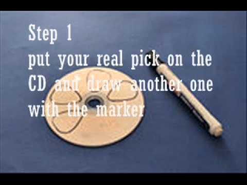 how to make guitar picks with pictures