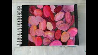 17 watercolor pebbles