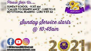 "Sunday School - ""Called to Significance"" - 01/10/2021"