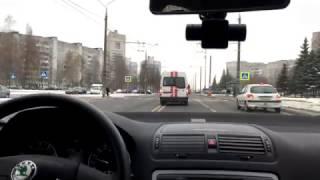 ГАИ сопровождали скорую на реальный вызов: как уступают дорогу