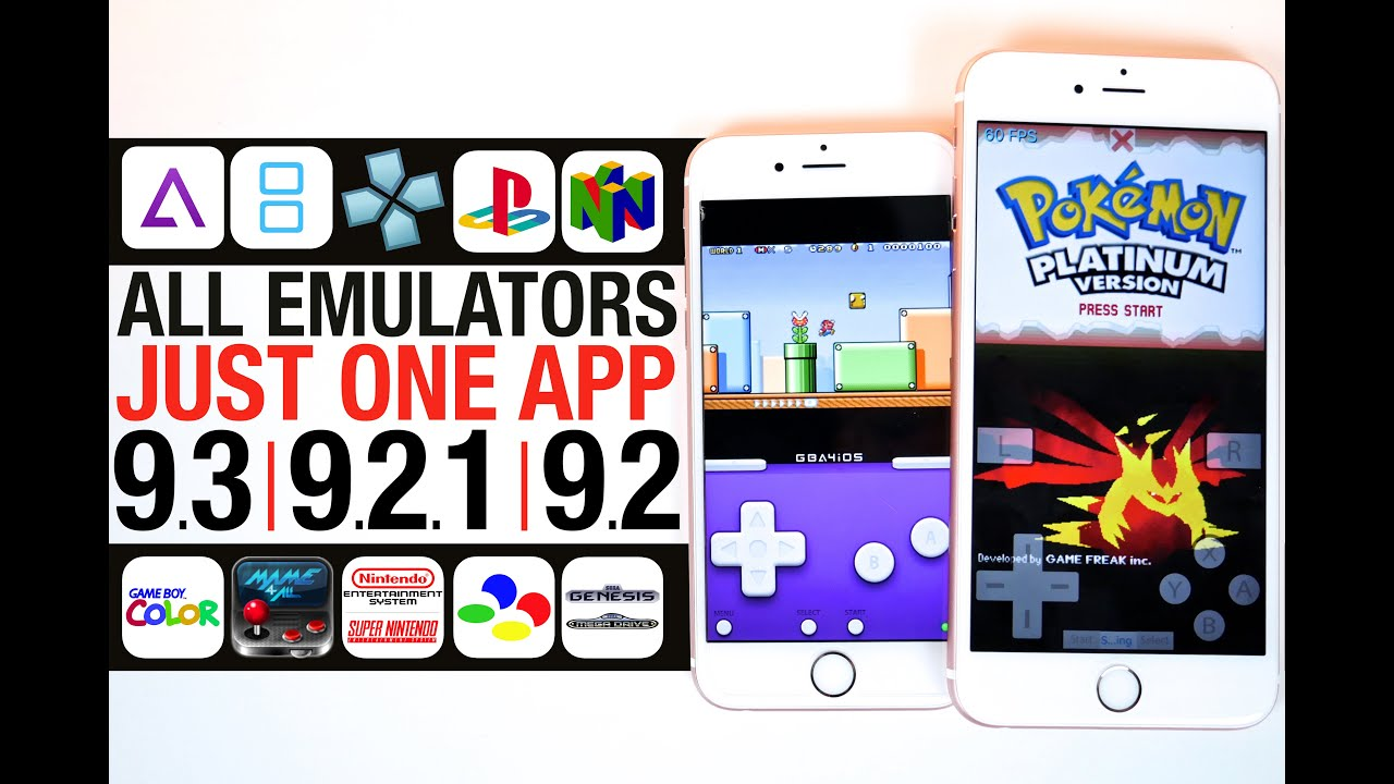 iphone app emulator all emulators ios 9 3 9 2 1 amp 9 2 gba nds psp ps1 11593
