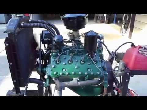 1952 Ford F1 Truck 239 Flathead V8 8RT Engine Stock Rebuild Running Start Up