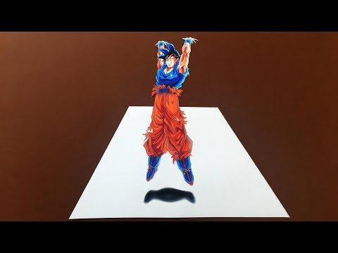 Drawing Goku Spirit Bomb 3D Illusion